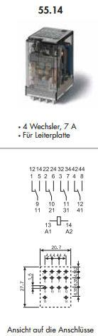 finder relais 24v 2 wechsler