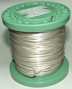 Silberdraht | OF-Kupferdraht, versilbert, auf Standardspule: 1 kg, 2 ...